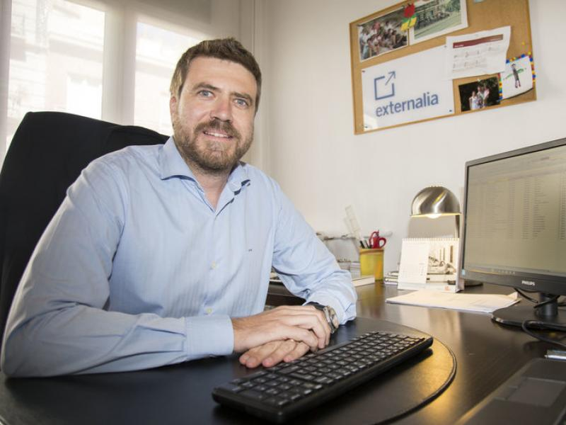 Javier Vila, fundador i director general d'Externalia.  Foto:ALBERT SALAMÉ
