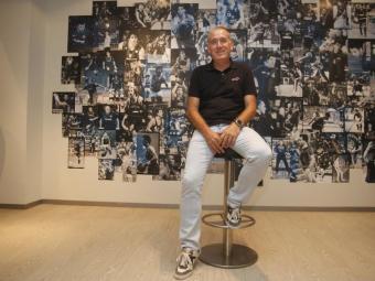 Andreu Plaza, en una sala del Palau Blaugrana Foto:O.DURAN