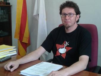 L'alcalde de Navàs, Jaume Casals, en una imatge d'aquesta setmana. Foto:MAR VICENTE
