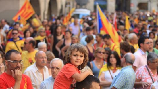 Imatge d'una de les celebracions recents de l'Onze de Setembre, a Girona Foto:LLUÍS SERRAT / ARXIU