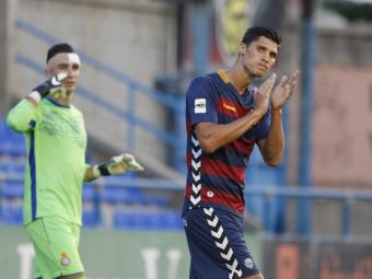 Rafa Jordà durant el primer partit de lliga contra l'Espanyol B a Palamós Foto:L.S