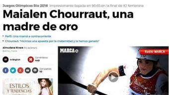 Exemples de titulars (o imatges, com la de Mireia Belmonte) sexistes sobre els Jocs. Les xarxes socials han contribuït a fer-los visibles, cosa que demostra que no són casos aïllats, i a promoure el debat des d'una òptica de gènere Foto:ARXIU