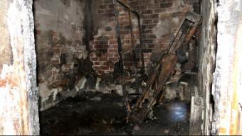 Una de les habitacions de l'immoble, que va quedar totalment calcinat en l'incendi Foto:AJ. BLANES