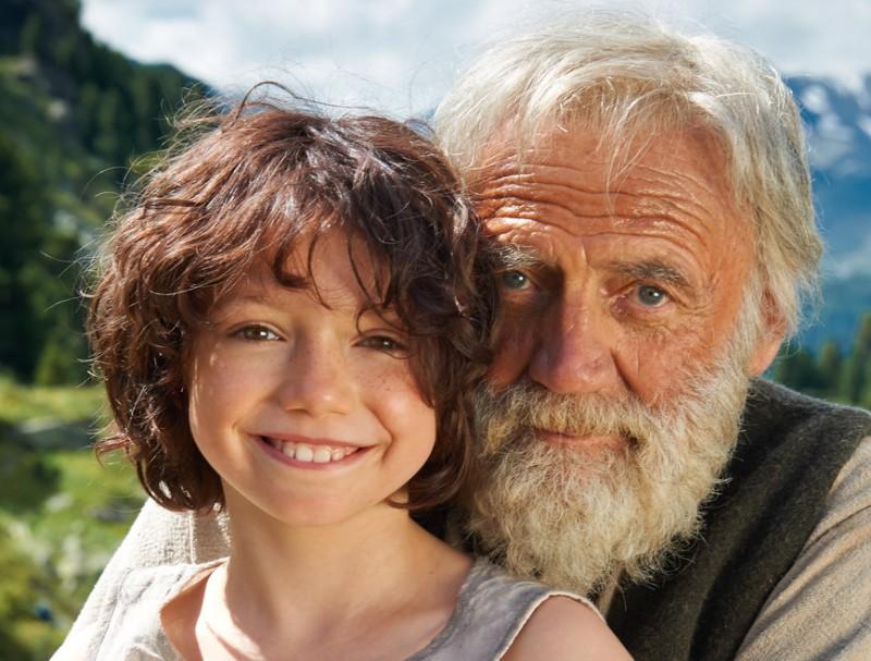 Anuk Steffen i Bruno Ganz són Heidi i l'avi en aquesta adaptació fidel a l'adaptació de la novel·la de Johanna Spyri i als paisatges que la van inspirar Foto:EMON