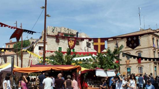 Una imatge del Mercat Medieval de Calafell de l'any passat, que enguany se celebrarà de l'1 al 4 de setembre. Foto:Arxiu