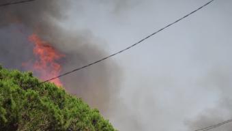 L'espectacular incendi a Sana Coloma de Farners, el juliol passat Foto:XAVIER ROCA - TRIBUNA SELVATANA