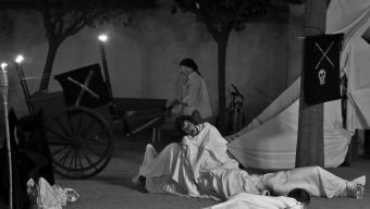 Una de les escenificacions de la Festa dels Empestats que se celebra a Malgrat de Mar des de fa cinc anys Foto:VICENS TOMÀS