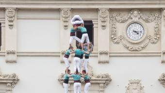 El 4 de 10 carregat pels Castellers de Vilafranca3. El 3 de 10 carregat pels Minyons de Terrassa 4. El 4 de 9net carregat per la Colla Joves Xiquets de Valls Foto:ALBERT SALAMÉ