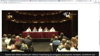 Una imatge de la presentació d'aquest matí al Teatre Municipal de Girona Foto:TELEVISIÓ DE GIRONA