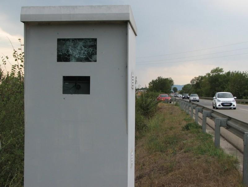 L'aparell detector i la càmera amb les pantalles escardades Foto:Ò. PINILLA