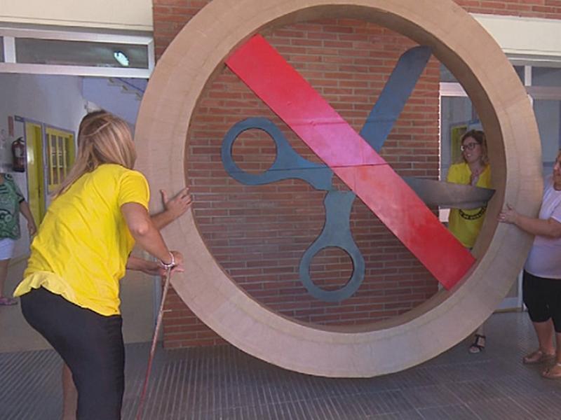 L'escola Agustí Barberà d'Amposta exigeix recuperar la línia de P3 retallada. Foto:L'EBRE