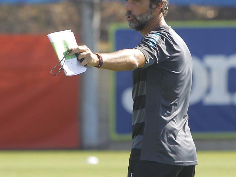 Quique Sánchez Flores busca el camí per fer evolucionar al seu Espanyol. Foto:RCDE