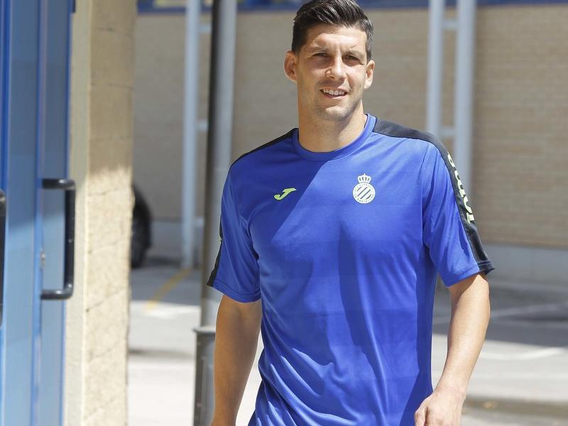 Javi López encara no sap si arribarà a temps per jugar contra el Real Madrid aquest diumenge. Foto:RCDE