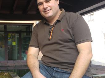 Carles Bosch fotografiat fa uns dies a Dosrius Foto:T. M