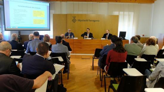 Presentació de les conclusions de l'enquesta de competitivitat comarcal encarregada per la Cepta, ahir Foto:EL PUNT AVUI