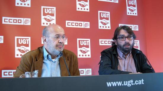 Gallego i Ros, líders de CCOO i UGT, respectivament Foto:EP