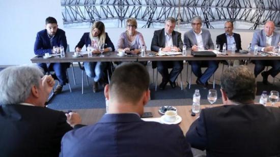 Els representants de PDC a Madrid que es van reuniar ahir amb empresaris gironins Foto:QUIM PUIG