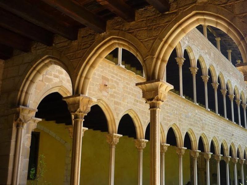 El monestir de Pedralbes fou una iniciativa d'Elisenda de Montcada.  Foto:ARXIU