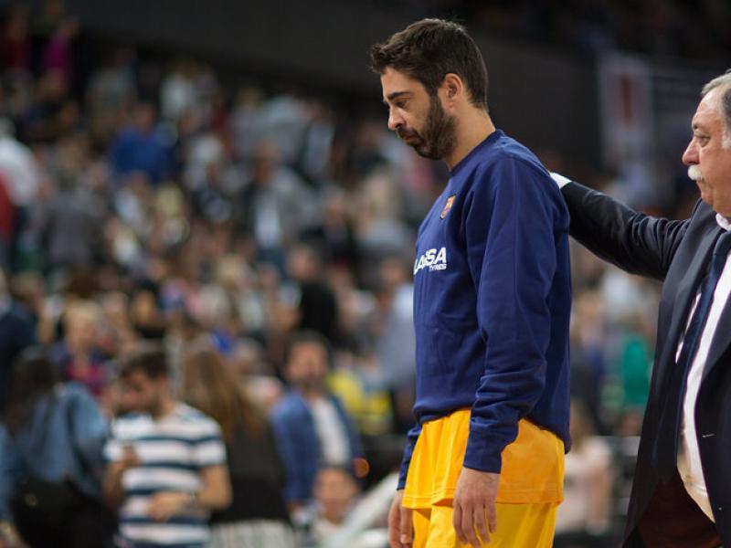 Navarro, el dia que es va lesionar a Bilbao Foto:ACB