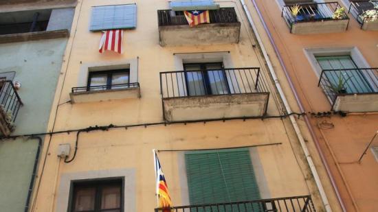L'edifici del carrer Argenteria que ha subhastat la UdG, en una imatge del febrer passat Foto:JOAN SABATER