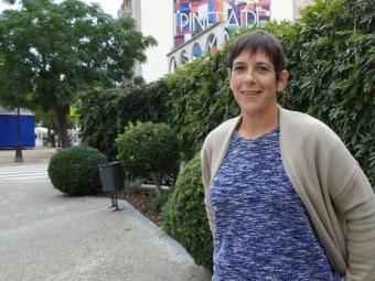 Mònica Palacín en una imatge presa aquest divendres a Pineda de Mar, d'on és regidora d'ERC a l'oposició Foto:T.M