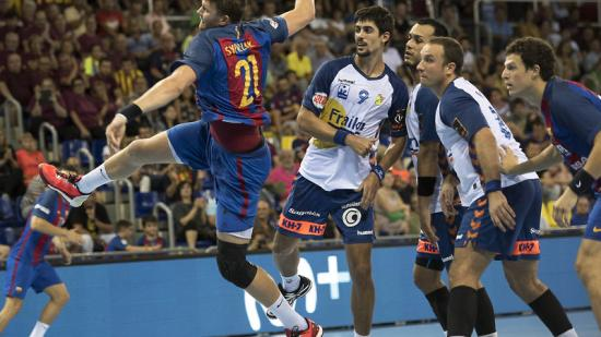 El Barça i el Granollers ja es van enfrontar en l'estrena de l'Asobal (37-26) Foto:J. LOSADA