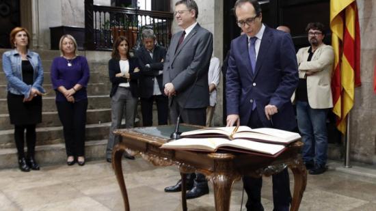 El president de la CVMC, Enrique Soriano, promet el càrrec. Foto:EL PUNT AVUI