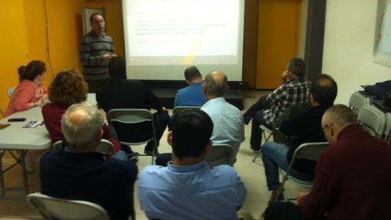 L'acte de presentació del pressupost es va fer ahir, al local d'ERC de Palamós Foto:J.T
