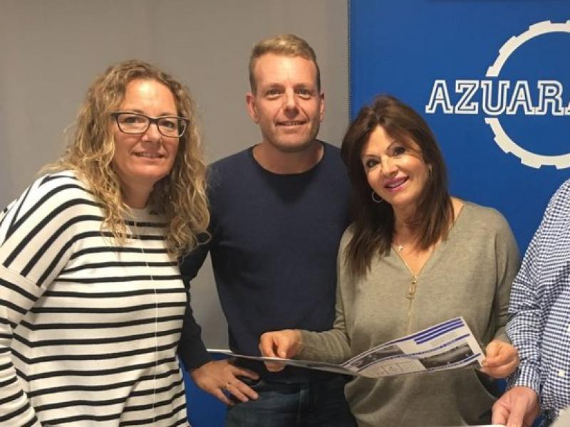 Merche Azuara, directora d'administració; Jesús Azuara fill, director tècnic i María Amores i Jesús Azuara, propietaris de l'empresa.  Foto:ARXIU