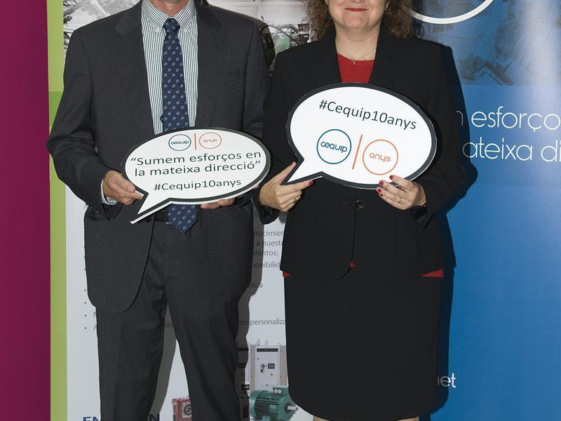 Pere Girbau i Judit Coll, president i gerent del Cequip.  Foto:ARXIU