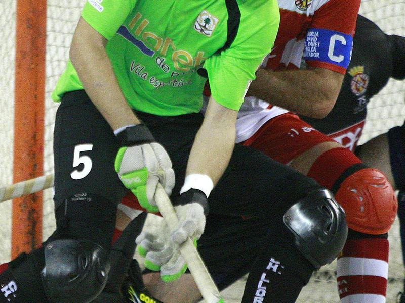 Lluís Grau va marcar el primer gol del Lloret Foto:LL.S