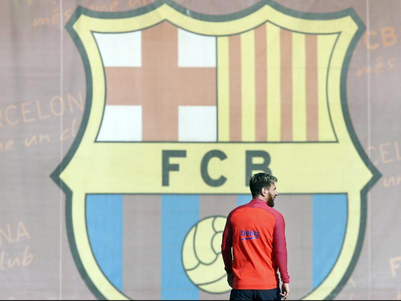Messi, en l'entrenament de divendres Foto:FC BARCELONA