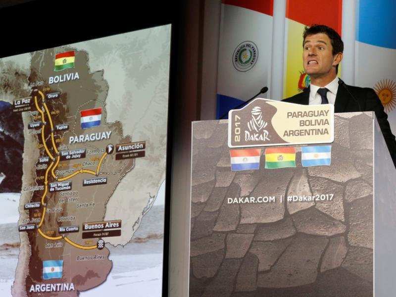 Marc Coma presenta el recorregut del Dakar 2017 Foto:REUTERS