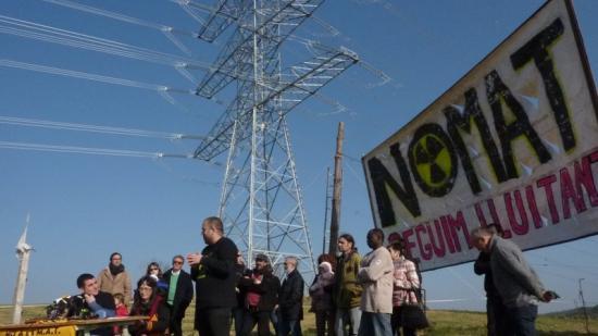 Una mobilització contra la MAT en una imatge d'arxiu del 2015 Foto:R.E