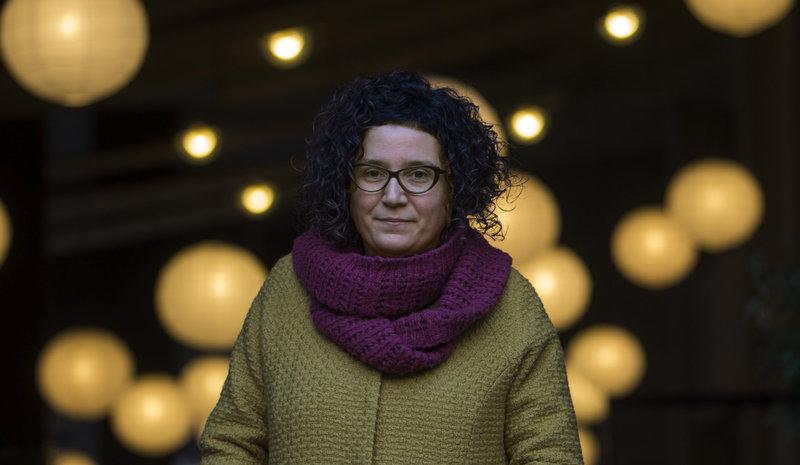 Imatge de Tina Vallès, que va ser proclamada ahir guanyadora de la segona edició del premi Anagrama de novel·la en català.