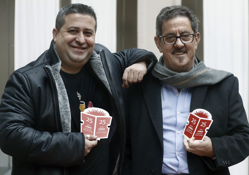 Imatge de Ricard Ruiz Garzón i Francisco Díaz Valladares, ahir a Barcelona.