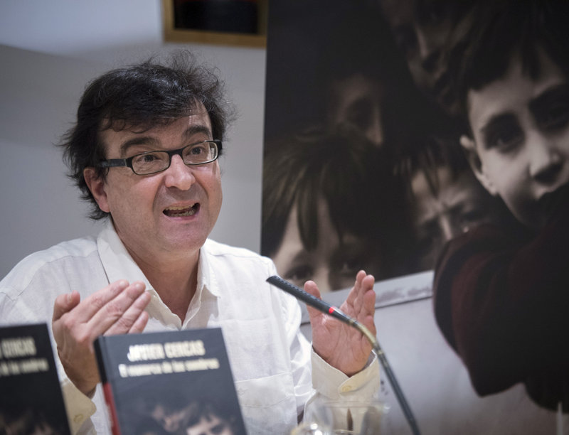 Imatge de Javier Cercas, ahir, a Madrid, on va presentar el llibre.