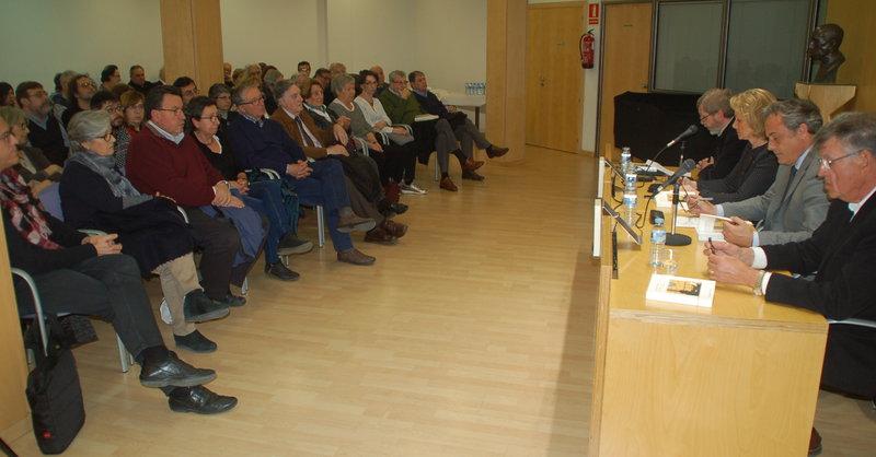 Imatge de la presentació d'ahir a la Fundació Valvi, que es va omplir per recordar Aragó.