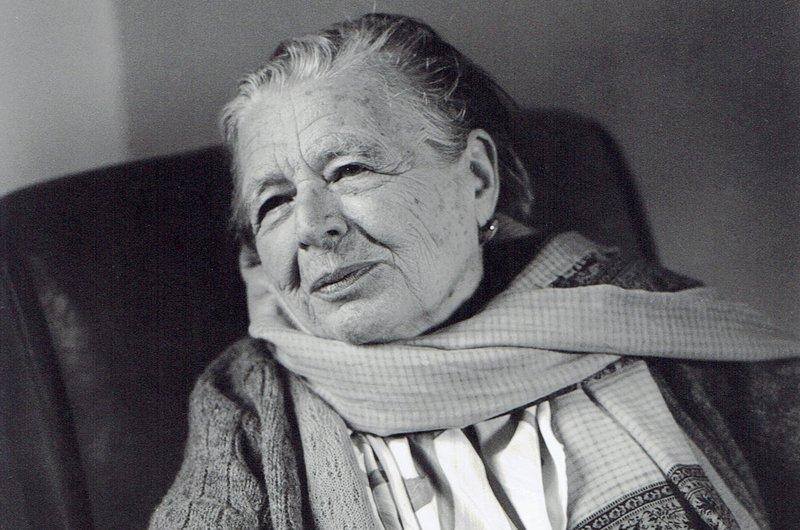 Imatge de Marguerite Yourcenar, fotografiada a Bailleul, l'octubre de 1982.