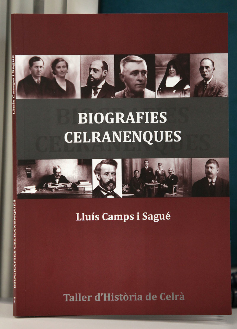 Imatge de la portada del llibre, editat pel Taller d'Història de Celrà.