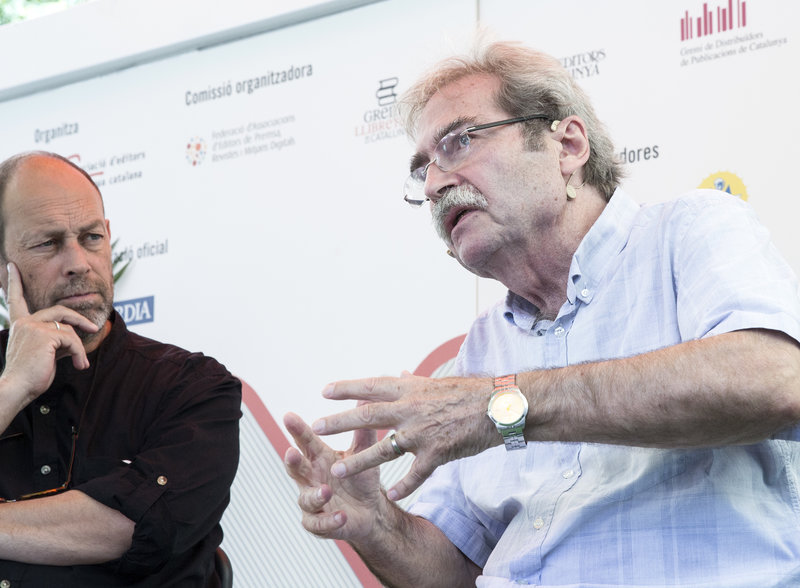 Imatge de Jaume Cabré, feta ahir en una roda de premsa a la Setmana del Llibre en Català.