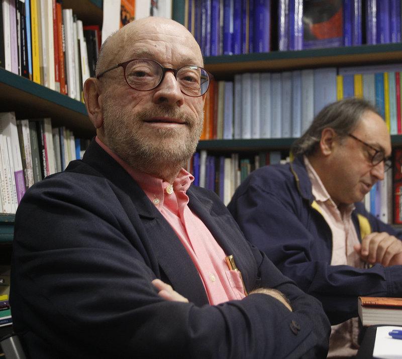 Imatge de Jaume Fàbrega, dissabte passat a la llibreria Geli.